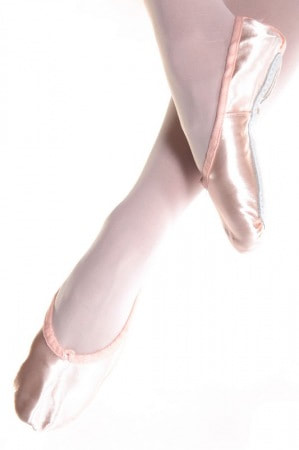 Arabesque Satin Ballet Shoes. (limited sizes).  Sizes Infant 6-8, £10.99-14.99
